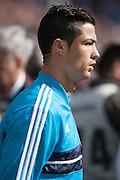 Cristiano Ronaldo out of the locker room tunnel