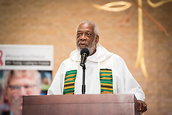 """12 September 2017, New York, USA: On 12 September, leaders from a variety of faiths and confessions gathered at the Interchurch Center Chapel in New York, for an interfaith prayer service on the theme """"Leading by Example: Faith and HIV Testing"""". Here, Rev. Edwin Sanders from Metropolitan Interdenominational Church in the USA."""