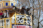 NEW YORK, NY, USA, Nov. 28, 2013. The 87th Annual Macy's Thanksgiving Day Parade moves down Central Park West.
