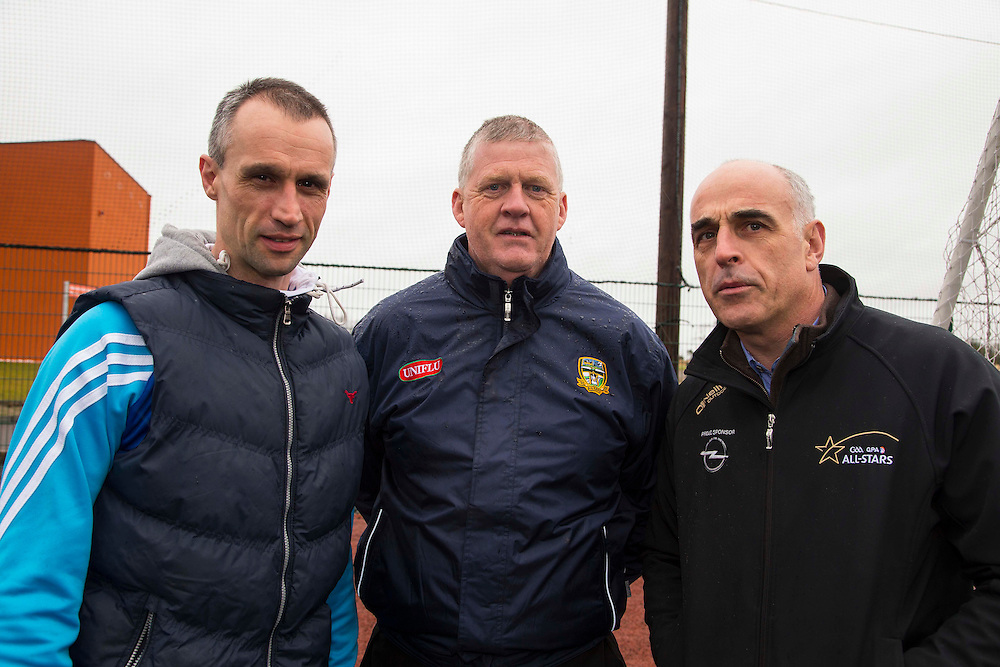 Hurling Coaching Conference at Meath Centre of Excellence, Dunganny, 20th February 2016<br /> Tommy Dunne (Tipperary), Paddy Kelly (Meath delegate to central Council) & Anthony Cunningham (Galway)<br /> Photo: David Mullen /www.cyberimages.net / 2016