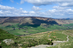 Edale and Hope Valley from The Great Ridge just beyond Mam Tor heading towards Back Tor and Losehill<br /> <br />  19 April  2015<br />  Image © Paul David Drabble <br />  www.pauldaviddrabble.co.uk