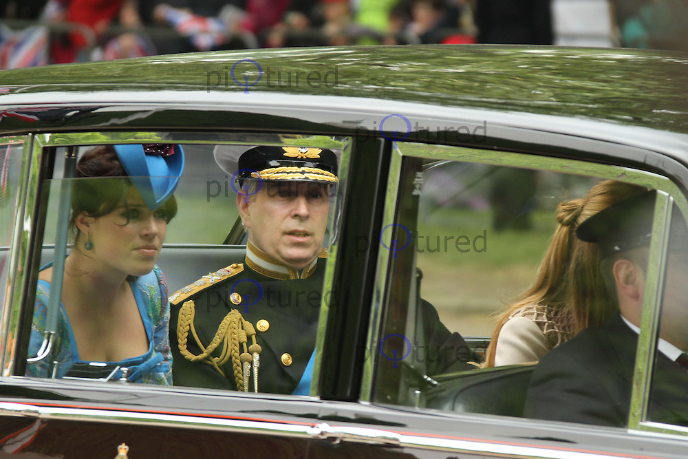 Princess Eugenie; Prince Andrew Duke Of York William & Kate Royal Wedding, London, UK, 29 April 2011:  Contact: Rich@Piqtured.com +44(0)7941 079620 (Picture by Richard Goldschmidt)
