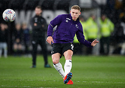 Derby County's Martyn Waghorn in the warm up during the Sky Bet Championship match at Pride Park, Derby.