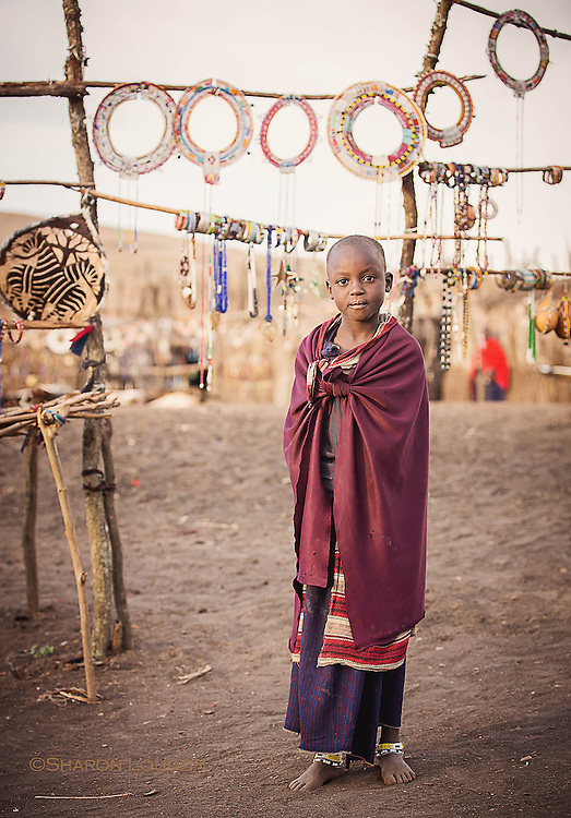 Young girl inside boma, Tanzania