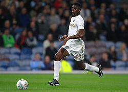 Leeds United's Hadi Sacko runs through on goal before scoring his side's first goal of the game during the Carabao Cup, third round match at Turf Moor, Burnley.