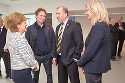 Rt Hon Nicola Sturgeon, First Minister of Scotland and internationalists from Oriam's sporting partners officially open the £33m Heriot-Watt University Edinburgh facility. Scot Gemmill, Stewart Regan and Anna Signeul.