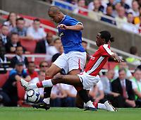 Madjid Bougherra<br /> Rangers 2009/10<br /> Sanchez Watt Arsenal<br /> Arsenal V Rangers (3-0) 02/08/09 at the Emirates Stadium<br /> The Emirates Cup 2009<br /> Photo Robin Parker Fotosports International