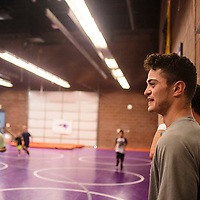 Alias Starkovich running drills at the Morningside Wrestling Camp, Tuesday July 25 at Miyamura High School.