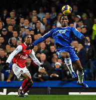 Photo: Ed Godden.<br /> Chelsea v Arsenal. The Barclays Premiership. 10/12/2006.<br /> Chelsea's Didier Drogba controls the ball.