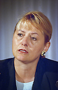 Carol Bartz, CEO of Autodesk, Inc attends a press conference by the Business Software Alliance June 16, 1999 in Washington, DC.