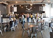 Paddy & Scott's cafe inside University of Suffolk, Ipswich, Suffolk, England, UK