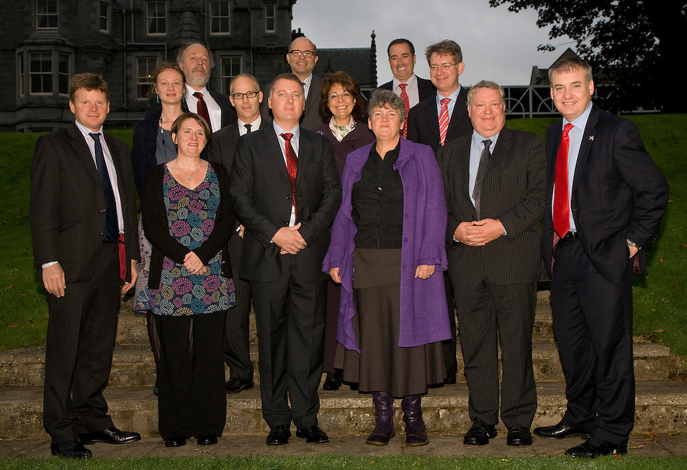 GROUP PHOTOGRAPH OF MINISTERS, BUISINESS LEADERS AND WWF STAFF AT ARDOE HOUSE HOTEL......PIC OF RICHARD BERGON, EVA GROENEVELD, HELEN McLACHLEN, NEIL MITCHISON, IAN HAGG, NIGEL EDWARDS, ANDREW BROWN, MARIA DAMANAKI, SALLY BAILEY, GEORGIOS MARKOPOULIOTIS, OLIVER DREWES, ANDREW KUYK, RICHARD LOCHHEAD..