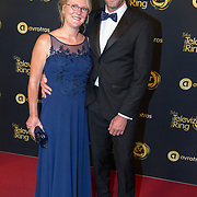 NLD/Amsterdam/20191009 - Uitreiking Gouden Televizier Ring Gala 2019, Jan Bronninkreef  en partner