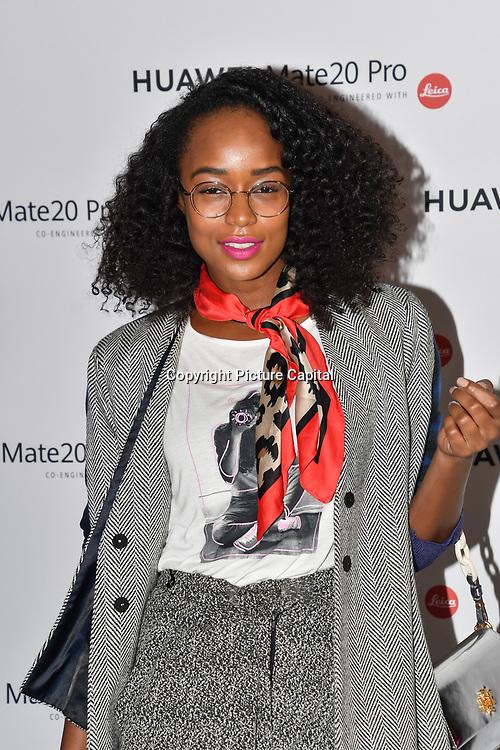Annaliese Dayes attend Huawei - VIP celebration at One Marylebone London, UK. 16 October 2018.