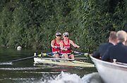 Henley-on-Thames. United Kingdom.  <br /> Women's Pair. NED W2-. Bow. Monica LANZ and Lies RUSTENBURG, Hollandia Roeiclub, Nether lands..  2017 Henley Royal Regatta, Henley Reach, River Thames. <br /> <br /> 18:50:28  Saturday  01/07/2017   <br /> <br /> [Mandatory Credit. Peter SPURRIER/Intersport Images.