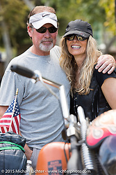 Karen Davidson and Scott Phillips at Born Free-7 at Oak Canyon Ranch. Silverado, CA. USA. Sunday, June 28, 2015.  Photography ©2015 Michael Lichter.