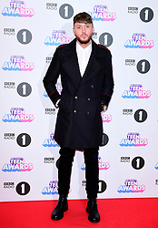 James Arthur attending BBC Radio 1's Teen Awards, at the SSE Arena, Wembley, London.