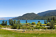 Kalamalka Lake's blue waters near Oyama, British Columbia, Canada