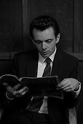 Actor Michael Sheen preparing for his role as the football manager Brian Clough