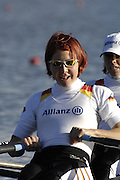 Seville. SPAIN, 18.02.2007, GER LW2X Bow Marie Luise DRAGER and Laura TASCH, move away from the start pontoon during Sunday morning's  heats, at the FISA Team Cup, held on the River Guadalquiver course. [Photo Peter Spurrier/Intersport Images]    [Mandatory Credit, Peter Spurier/ Intersport Images]. , Rowing Course: Rio Guadalquiver Rowing Course, Seville, SPAIN,