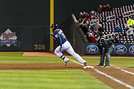 Ryan Doumit #9 of the Minnesota Twins rounds 1st base against the Miami Marlins in Game 2 of a split doubleheader on April 23, 2013 at Target Field in Minneapolis, Minnesota.  The Marlins defeated the Twins 8 to 5.  Photo: Ben Krause