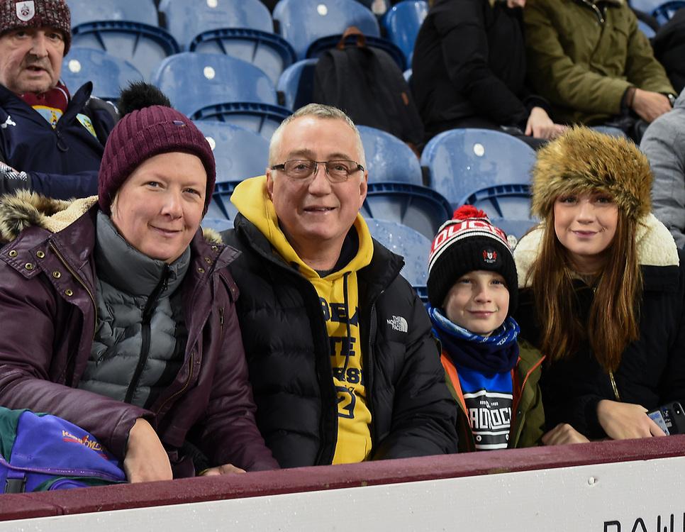 Burnley Supporters enjoying the pre-match warm-up<br /> <br /> Photographer Jon Hobley/CameraSport<br /> <br /> The Premier League - Burnley v Tottenham Hotspur - Saturday 23rd December 2017 - Turf Moor - Burnley<br /> <br /> World Copyright © 2017 CameraSport. All rights reserved. 43 Linden Ave. Countesthorpe. Leicester. England. LE8 5PG - Tel: +44 (0) 116 277 4147 - admin@camerasport.com - www.camerasport.com