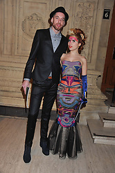 Designer ALEX NOBLE and PALOMA FAITH attends the premier of 2012 Cirque du Soleil's Totem at the Royal Albert Hall, London on 5th January 2012,