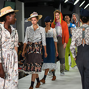 Northampton University showcases it lastest collection at the Graduate Fashion Week 2018, 4 June 4 2018 at Truman Brewery, London, UK.