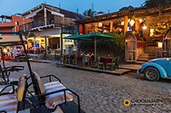 Dusk in the streets of downtown Sayulita, Mexico