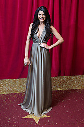 © Licensed to London News Pictures . 16/05/2015 .  The Palace Hotel , Manchester , UK . NATALIE ANDERSON . The red carpet at the 2015 British Soap Awards , The Palace Hotel , Oxford Road , Manchester . Photo credit : Joel Goodman/LNP