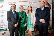 Premiere Mees Kees op Kamp in het CineMec in Ede.<br /> <br /> Op de foto:  Prinses Laurentien met haar vader Laurens Jan Brinkhorst met producenten Katja Scheffer en Paul Voorthuysen