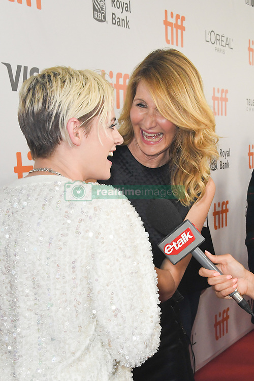 September 15, 2018 - Toronto, Ontario, Canada - KRISTEN STEWART and LAURA DERN share a laugh during arrivals for the 'Jeremiah Terminator Leroy' premiere during the 2018 Toronto International Film Festival, held at Roy Thomson Hall. (Credit Image: © Igor Vidyashev/ZUMA Wire)