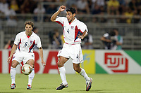 FOTBALL - CONFEDERATIONS CUP 2003 - GROUP B - BRASIL v USA - 030621 - PABLO MASTROENI (USA) - PHOTO JEAN MARIE HERVIO / DIGITALSPORT