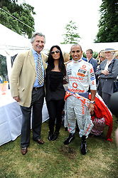 Left to right, ARNAUD BAMBERGER MD of Cartier, NICOLE SCHERZINGER and LEWIS HAMILTON at the Cartier Style et Luxe, the Goodwood Festival of Speed, West Sussex on 13th July 2008.<br /> <br /> NON EXCLUSIVE - WORLD RIGHTS