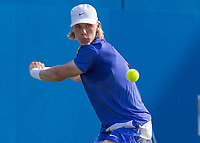 Tennis - 2017 Aegon Championships [Queen's Club Championship] - Day Three, Wednesday<br /> <br /> Men's Singles: Round of 16 _ Tomas Berdych (CZE) Vs Denis Shapovalov (CAN)<br /> <br /> Denis Shapovalov (CAN) prepares for a back hand return at Queens Club<br /> <br /> COLORSPORT/DANIEL BEARHAM