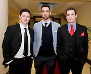 Paddy Kennedy, Roscahill, Kieran Conroy, Shrule, Charlie Burke, Taylor's Hill, at the Take Me Out for Cancer Care West in the Sathill Hotel, Galway . Photo:Andrew Downes.