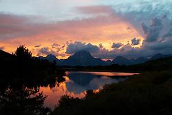 Sunset, Oxbow Bend, Grand Teton National Park