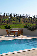 vineyard pool chateau pey la tour bordeaux france