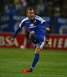 Jeremy Brockie of SuperSport United during the 2016 Premier Soccer League match between Supersport United and The Free Stat Stars held at the King Zwelithini Stadium in Durban, South Africa on the 24th September 2016<br /> <br /> Photo by:   Steve Haag / Real Time Images