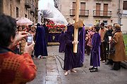Semana Santa (Holy Week).  Street processions are organized in most Spanish towns each evening, from Palm Sunday to Easter Sunday. People carry statues of saints on floats or wooden platforms, and an atmosphere of mourning can seem quite oppressive to onlookers.