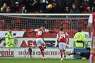 Rotherham United striker Jonson Clarke-Harris missis penalty during the Sky Bet Championship match between Rotherham United and Charlton Athletic at the New York Stadium, Rotherham, England on 30 January 2016. Photo by Ian Lyall.