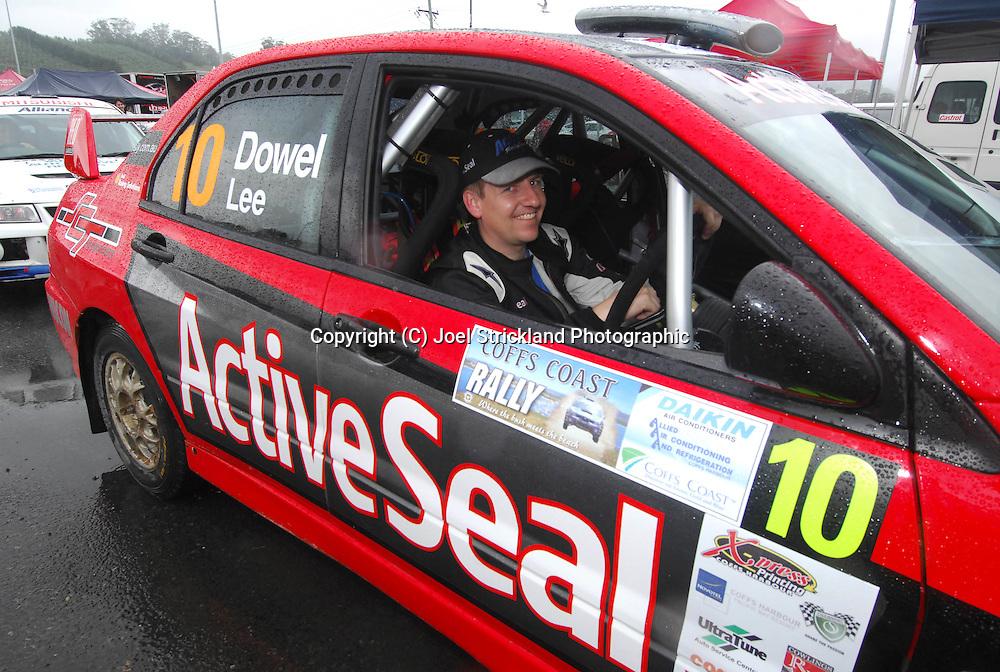Matt Lee behind the wheel of Justin Dowel's rally car.Motorsport-Rally/2008 Coffs Coast Rally.Heat 2.Coffs Harbour, NSW.16th of November 2008.(C) Joel Strickland Photographics