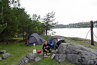 Camping at Frisøya outside Arendal