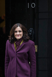© Licensed to London News Pictures. 01/03/2016. London, UK.  Theresa Villiers, Secretary of State for Northern Ireland, leaves Downing Street after attending a cabinet meeting. Photo credit: Peter Macdiarmid/LNP
