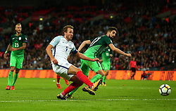 Harry Kane of England scores the winning goal to make it 1-0 - Mandatory by-line: Robbie Stephenson/JMP - 05/10/2017 - FOOTBALL - Wembley Stadium - London, United Kingdom - England v Slovenia - World Cup qualifier