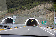 Greece, Epirus, Entrance to a tunnel on the GR-6 highway leading to Ioannina