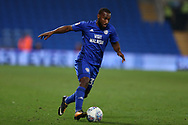Junior Hoilett of Cardiff City in action. EFL Skybet championship match, Cardiff city v Leeds Utd at the Cardiff city stadium in Cardiff, South Wales on Tuesday 26th September 2017.<br /> pic by Andrew Orchard, Andrew Orchard sports photography.