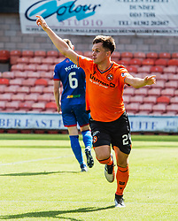 Dundee United's Lawrence Shankland celebrates after scoring their second goal. Dundee United 4 v 1 Inverness Caledonian Thistle, Scottish Championship game of season 2019-2020, played 3/8/2019 at Tannadice Park, Dundee.
