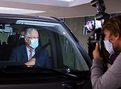 © Licensed to London News Pictures. 10/09/2020. London, UK. Chief EU negotiator MICHEL BARNIER is seen leaving his hotel in Westminster on the day of a new round of negotiations between the UK Government and the EU. British Prime Minister Boris Johnson has threatened to overwrite parts of the EU withdrawal agreement signed with Brussels last October. Photo credit: Ben Cawthra/LNP
