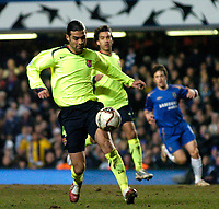 Photo: Richard Lane.<br />Chelsea v Barcelona. UEFA Champions League. 22/02/2006.<br />Barcelona's Rafael Marquez.